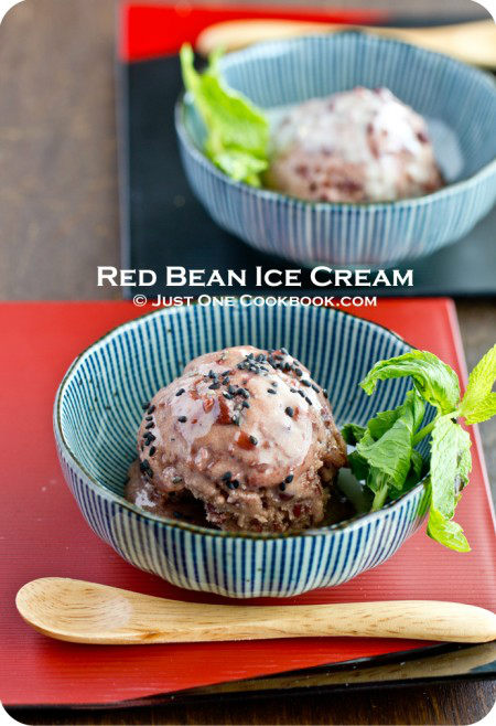 Red Bean Ice Cream Recipe | JustOneCookbook.com
