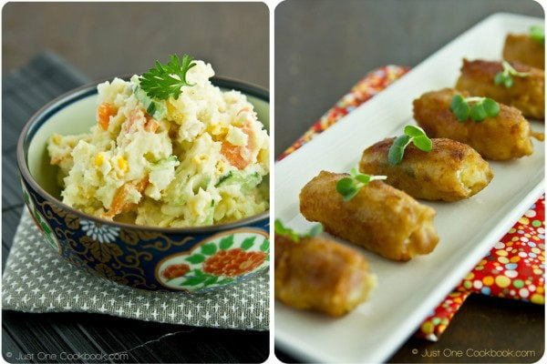 Japanese Potato Salad & Potato Salad Pork Rolls