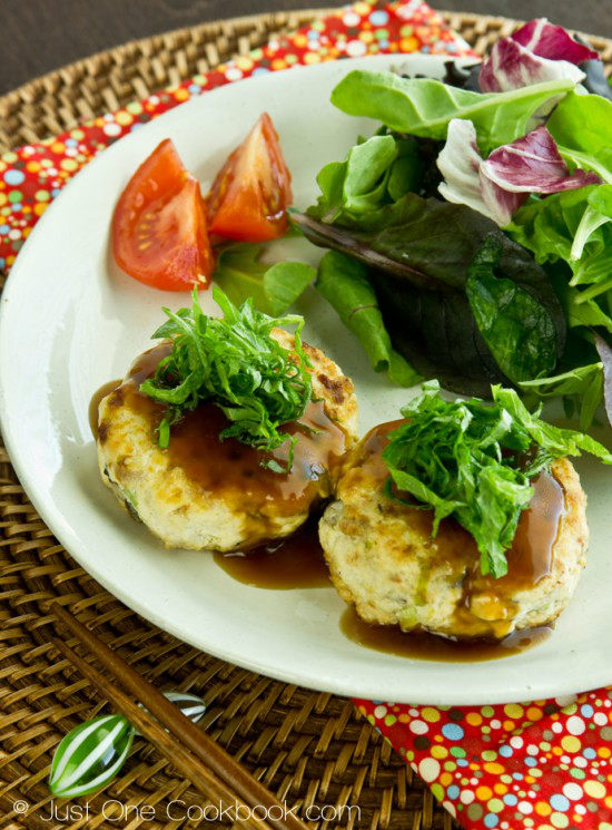 Chicken & Tofu Burger Steak Recipe | JustOneCookbook.com