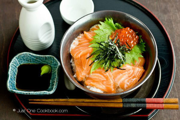 Salmon & Ikura Don Recipe | JustOneCookbook.com