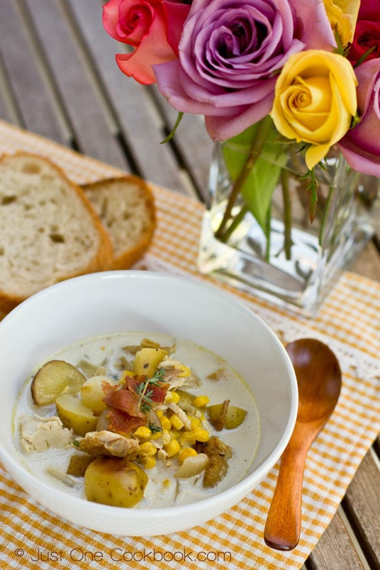 Chicken & Corn Chowder with Roasted Potato II