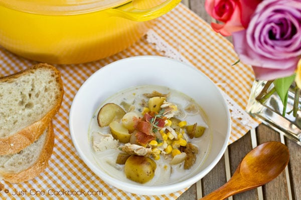 Chicken & Corn Chowder with Roasted Potato III