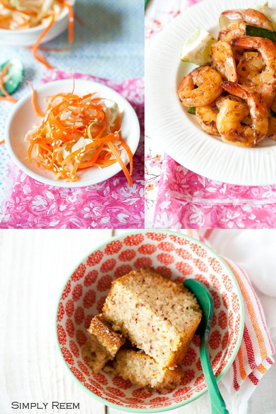 Honey Glazed Shrimps with Asian Coleslaw - Guest Post By Simply Reem V