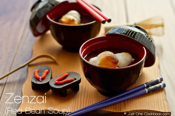 Zenzai (Red Bean Soup) Recipe | JustOneCookbook.com