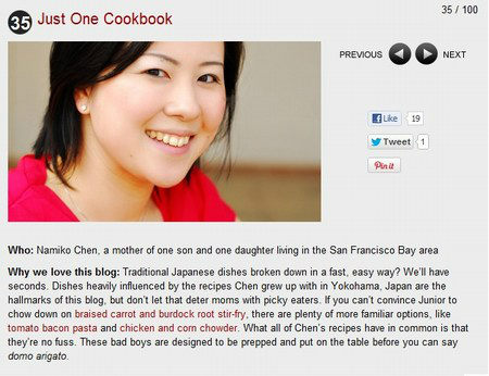 Babble Top 100 Mom Food Blogs 2012