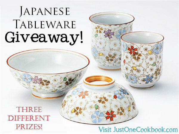 Japanese Tableware Giveaway | Easy Japanese Recipes at JustOneCookbook.com