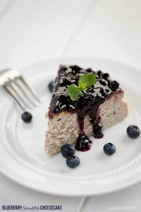 Blueberry Soufflé Cheesecake | Easy Japanese Recipes at JustOneCookbook.com